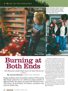Country Magazine article including photos by Gary N-Ski